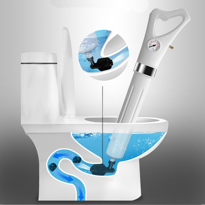 Inflatable high-pressure toilet dredge gun Kitchen sink and sewer High Pressure Pump Cleaner Sink Pipe Clogged Remover