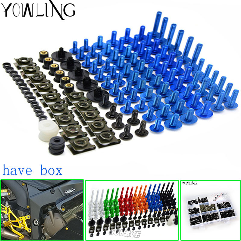 Motorcycle Scooters Fairing Body Work Bolts Nuts Spire Speed Fastener Clips Screw for yamaha MT-01 mt07 YZ250 XT250 WR450F SR400
