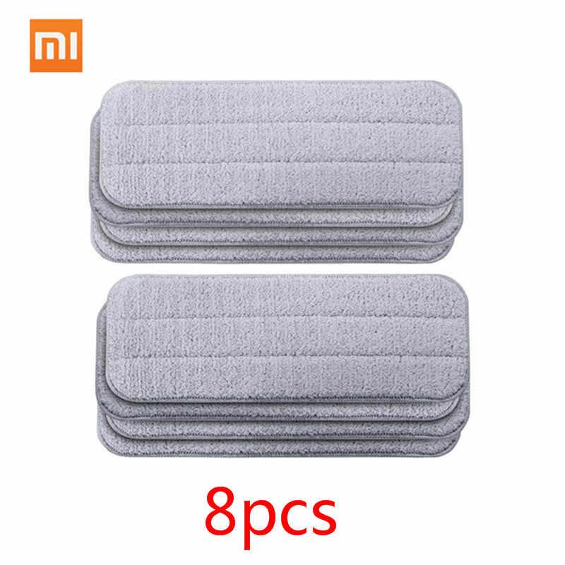 Xiaomi Mijia Deerma сменная Швабра для Mi Mijia Швабра для распыления воды 360 Вращающаяся салфетка для очистки головки деревянные из карбонового волокна ткань C2