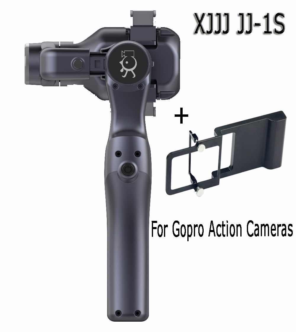 XJJJ JJ-1S 2-axis Brushless Handheld Phone Stabilizer 330 Degree Smartphone for Gopro Gimbal Holder Mount Built-in Bluetooth xjjj jj 2 3 axis brushless handheld gimbal stabilizer 360 degree shooting fitting smart phone