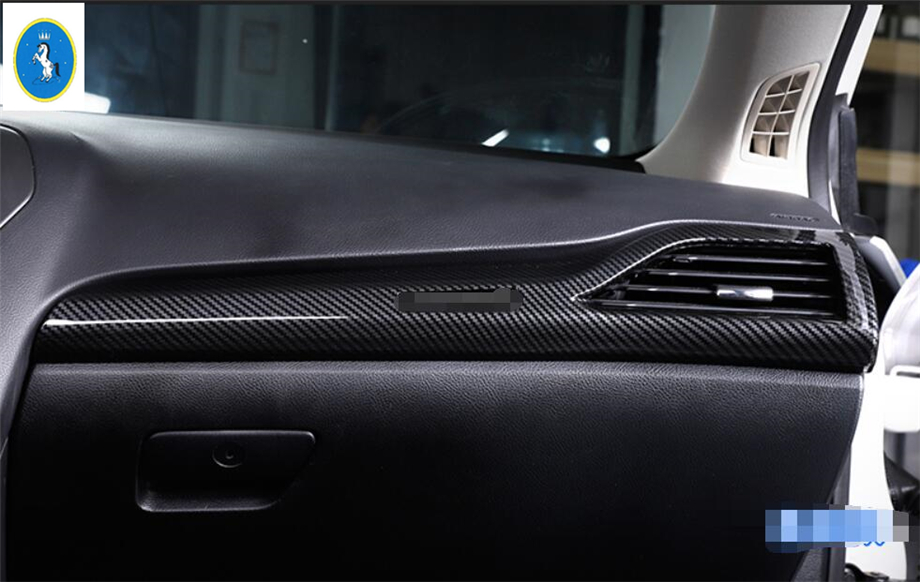 New Style For Ford Mondeo / Fusion 2013 - 2016 ABS Central Control Decor Strip + Side Air Conditioning AC Outlet Vent Cover Trim accessories for chevrolet camaro 2016 2017 abs carbon fiber style the co pilot central control strip molding cover kit trim page 8