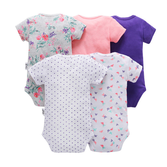 2019 new born baby boy girl clothes unisex newborn Infant clothing set cotton short sleeve o-neck bodysuit summer outfit suit 1