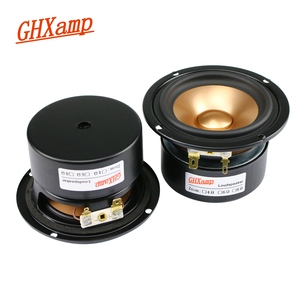 GHXAMP 3 Inch Full Range Speaker 8ohm 15W Aluminum Basin Home Theater Tri band Balanced For