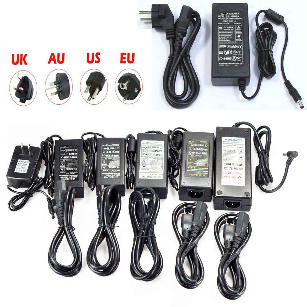 LED Power Supply AC DC 5 V 12 V 24 V power Adapter 1A 2A 3A 5A 8A 10A led Beralih Transformator Daya Untuk LED Strip light CCTV Kamera