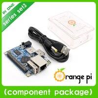 Orange Pi One Set 3: Orange Pi One+ Transparent ABS Case+ USB to DC 4.0MM - 1.7MM Power Cable Support Android, Ubuntu, Debian