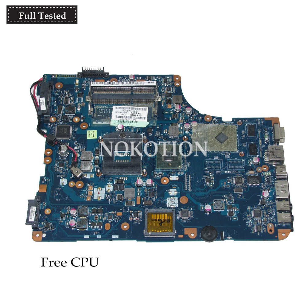 купить NOKOTION NSWAA LA-5322P K000092520 laptop motherboard for toshiba satellite L500 A505 ATI HD4500 DDR3 HM55 Main board free cpu по цене 6701.83 рублей