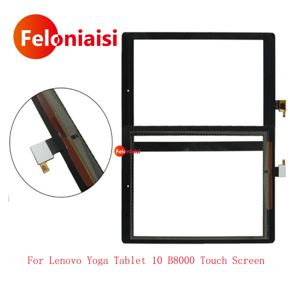High Quality 8 For Lenovo Yoga Tablet 8 B6000 Touch Screen Digitizer Sensor Panel Front Glass Lens Free Shipping+Tracking Code 3 7v 6340mah battery for s6000 a1000a3000 s600h a3000 h b6000 f l11c2p32 1icp3 62 147 2 free shipping