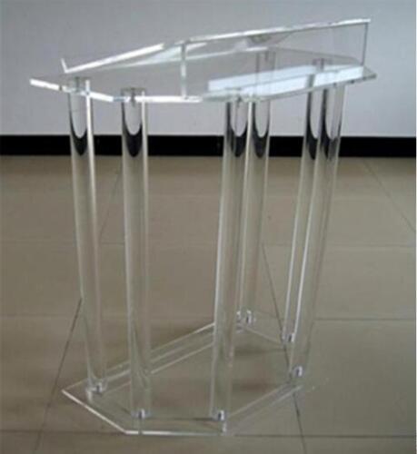 Wholesale Speak Rostrum Modern Elegant Floor Standing Acrylic Dais Speech Stand Clear Acrylic Lectern Podium