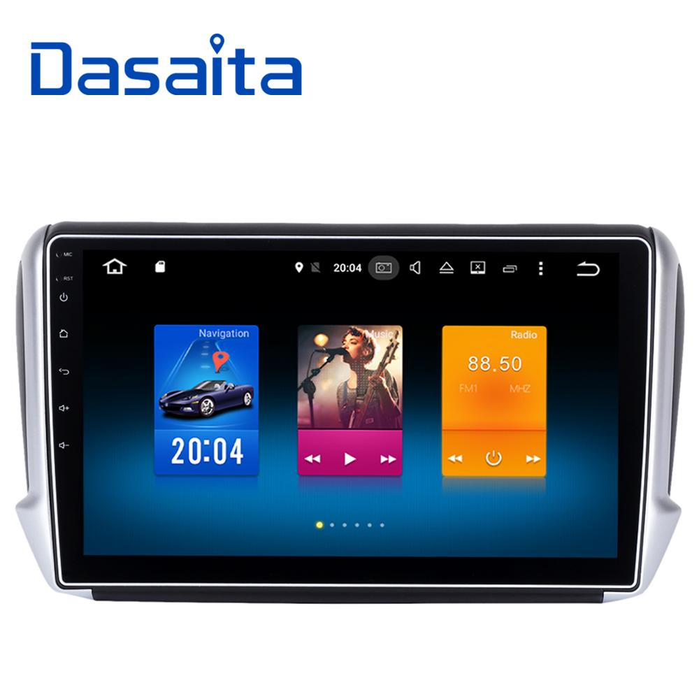 dasaita 10 2 android 8 0 car gps player for peugeot 208. Black Bedroom Furniture Sets. Home Design Ideas