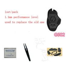 1 set/pack genuino Hotline juegos mouse skate 1.1mm nivel del funcionamiento del Teflon pies de ratón para Logitech G602