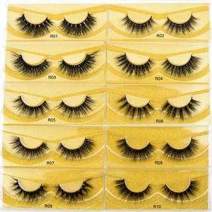 Image 5 - Free DHL 100 Pairs Wholesale 3D Real Mink Eyelashes High Quality Handmade False Eyelashes Extension 68 Styles Mink eyelashes