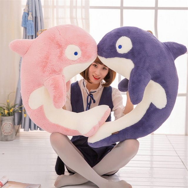 Fancytrader Pop Anime Whale Plush Animals Toys 28inch Big Huge