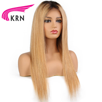 KRN Straight Lace Front Human Hair Wigs 130 Density 13X3 Remy Hair Pre Plucked Brazilian Lace Front Wigs Natural Hairline