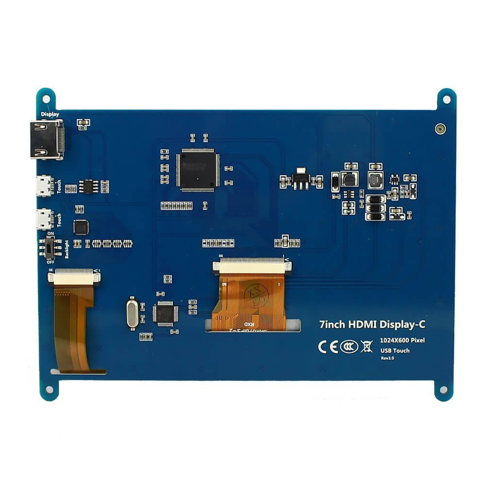 Монитор 7 дюймов 1024X600 HD TFT lcd с сенсорным экраном для Raspberry Pi B +/2B Raspberry Pi 3 - 2