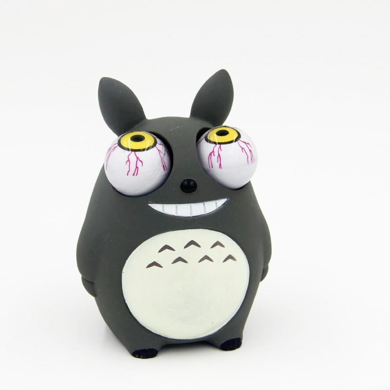 Crowded Eyes Antistr Totoro Squishy Toy Zombie Novelty Fun Anti Stress Funny Spoof Christmas Halloween Toys JY46
