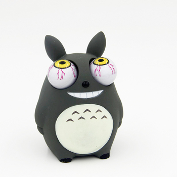 Crowded eyes antistr Totoro Squishy Toy Zombie Novelty Fun Anti Stress Funny Spoof Christmas Halloween Toys JY46 anime avatar monster pet thumbnail funny spoof taste fridge magnet colourful squishy waterproof stickers kawaii toy recyclable