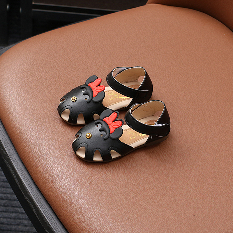 13.5-19cm Summer Kids Sandals Baby Girls Mickey Cartoon Shoes Korean Toddler Shoes Princess Children Hollow Out Infant Sandals
