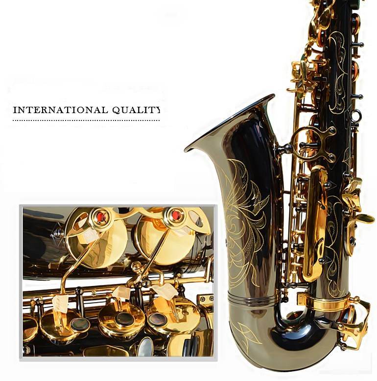 High quality Saxophone alto selmer 54 instruments professional E flat sax alto Black saxophone Play music instruments shipping france selmer 54 e flat alto saxophone instruments matt black nickel and gold professional performance