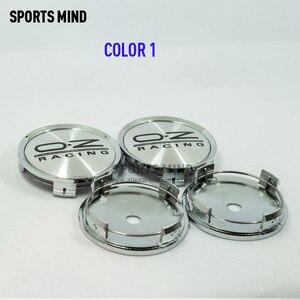 Image 4 - Колпачки центральной ступицы автомобильных колес, 4 шт./лот 75 мм, эмблема гоночного колеса OZ, аксессуары для стайлинга автомобиля