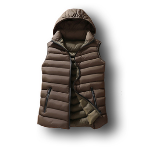 Image 3 - Mens Winter Sleeveless Jacket Men Down Vest Mens Warm Thick Hooded Coats Male Cotton Padded Work Waistcoat West Homme Vests