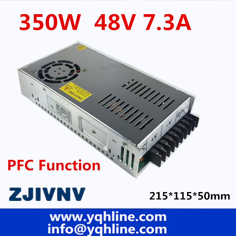 цена на PFC function 350w switching power supply 48v 7A led driver output DC 48V for CCTV camera LED Strip Input 110-220vac