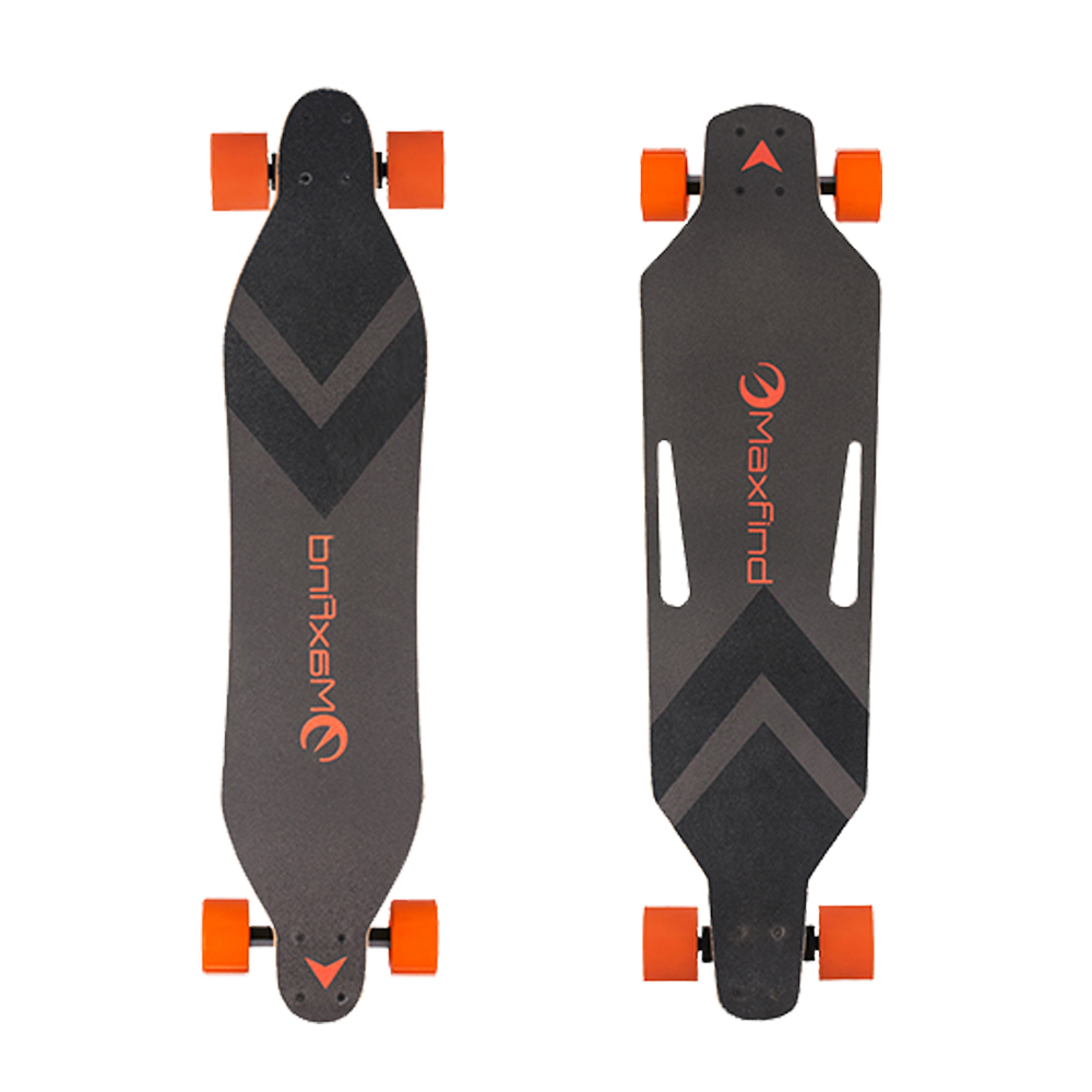 Maxfind World's Lightest Dual Motors remote Electric Skateboard longboard 4 wheel from EU and US with 12-month Warranty