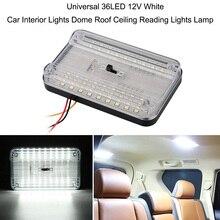 Универсальный 36LED 12 В в белый автомобиль интерьерные огни купольная крыша потолочные лампы для чтения лампы автомобиля Стайлинг крытый свет багажника свет