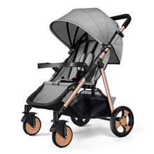 6Kg Lightweight Stroller Baby Pushchair Foldable Portable Four-wheel High Landscape Baby Stroller Hot Mom Pink Stroller Trolley(China)