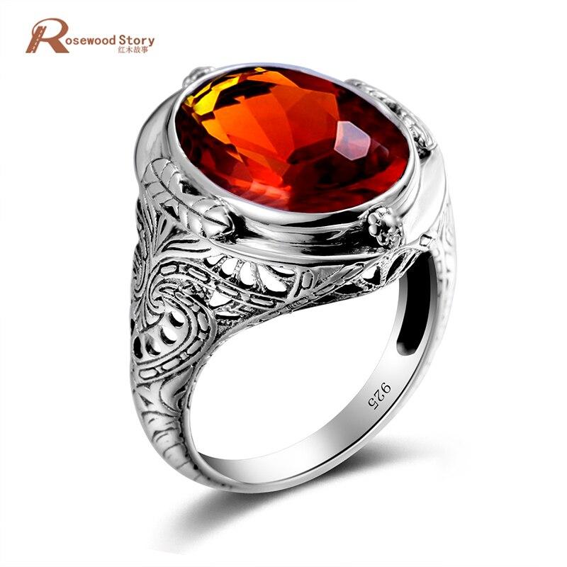 Luxury Birthstone Ring Brown Amber Vintage 925 Sterling Silver Victoria Wieck Wedding Rings For Women Fashion Tiffan Jewelry цена