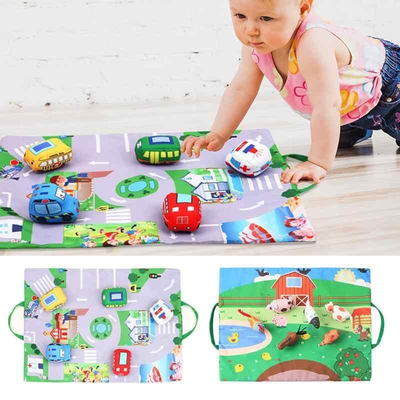 Baby Play Mats Infants Cartoon Farm