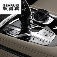 Car Gear Shift Box Sequins Cover Trim Interior Stall Decoration Decorative Strip Sticker For BMW F10