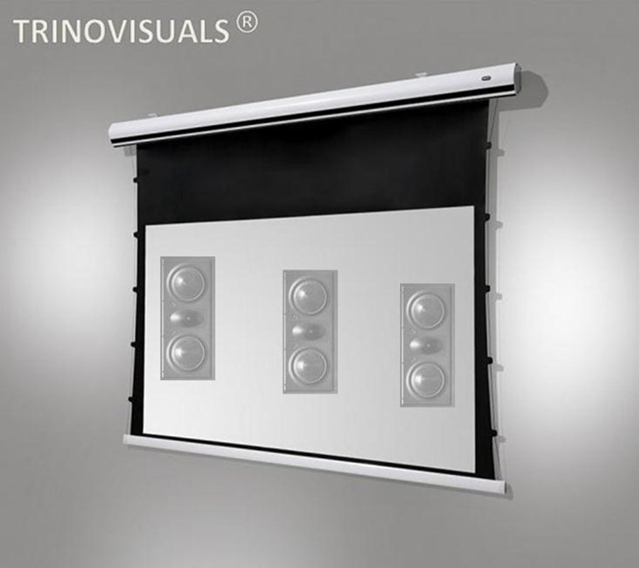 2.35: 1 Homecinema 4 K/3d Gespannen Elektrische Projectiescherm Akoestisch Transparant Projector Schermen Geluid Via