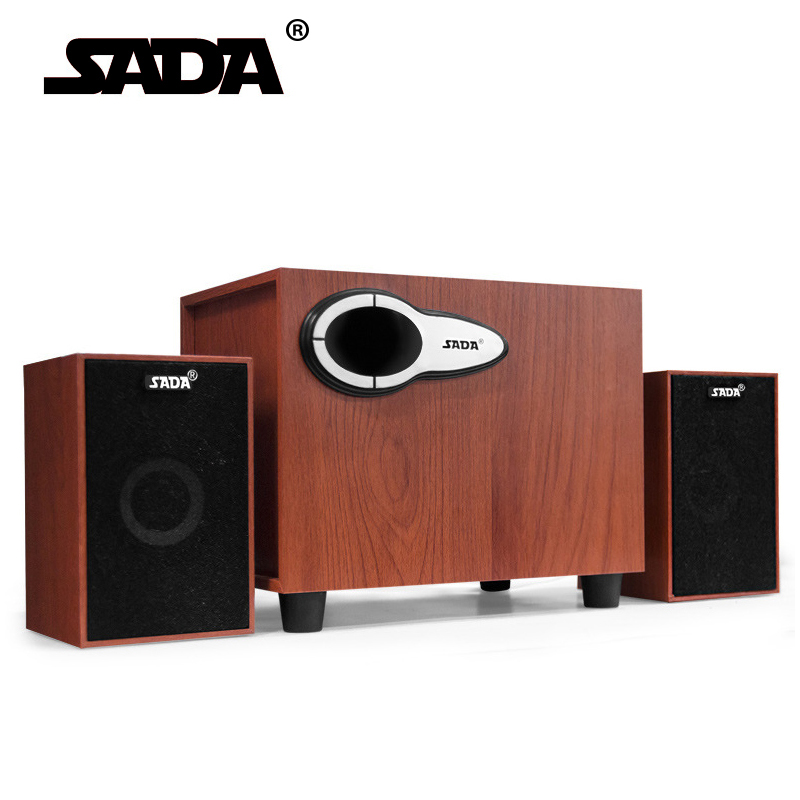 SADA High Quality Wood USB Speaker Player For Computer Smartphone U Disk TF Card With Wireless Bluetooth 3.5mm AUX Fanction