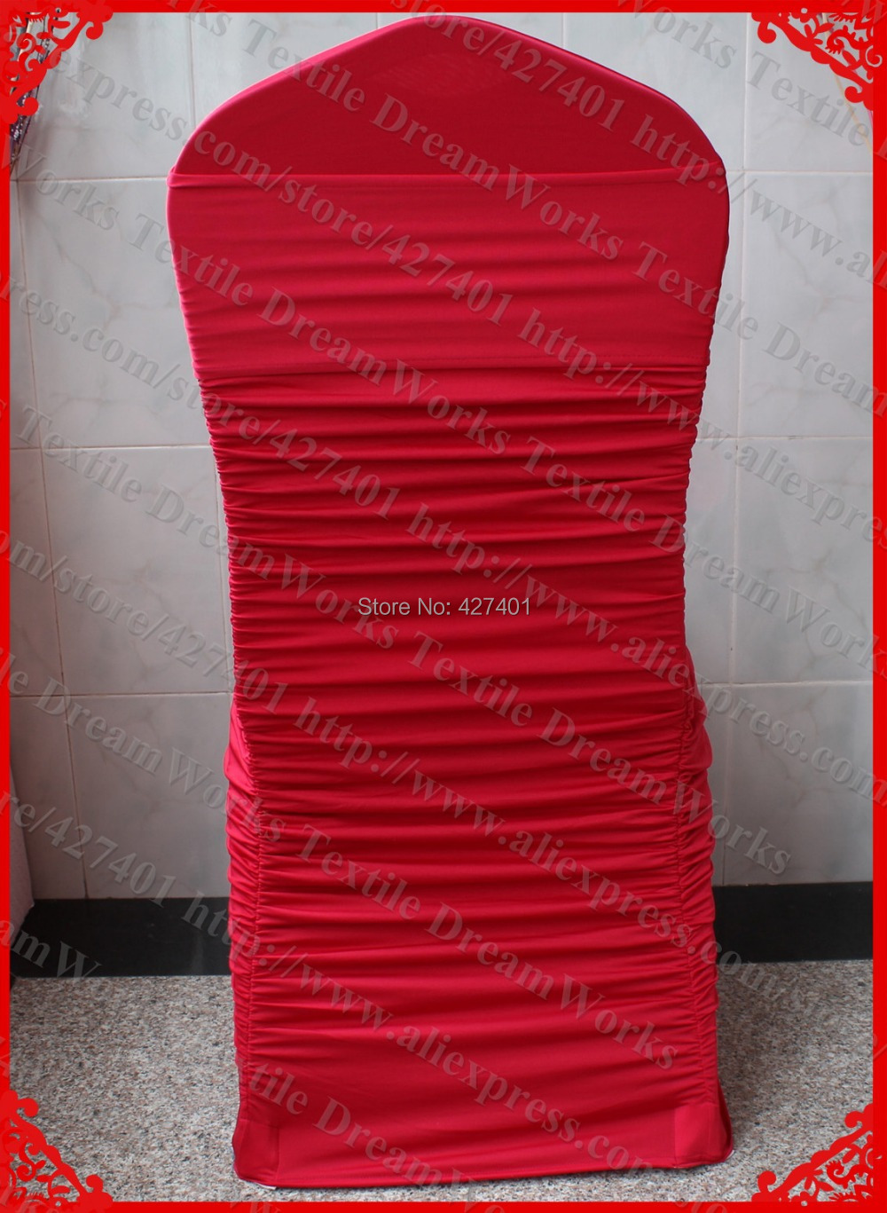 lycra chair covers nz hanging brisbane no 14 dark red ruffled spandex cover sash with band for wedding party banquet home decorations