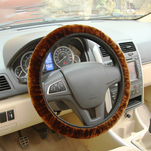Image 2 - Soft Plush Car DIY Steering Wheel Cover Braid On The Steering wheel Winter Warm Covers Car Styling Interior  Accessories