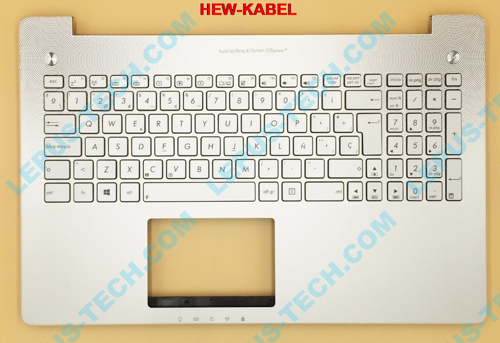 SP Keyboard for ASUS N550 N550JV N550JK with backlight top case palmrest Spain layout-in Replacement Keyboards from Computer & Office    1