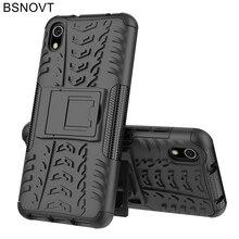 For Xiaomi Redmi 7A Case Silicone + Plastic Kickstand Armor Note 8 Pro 7 BSNOVT