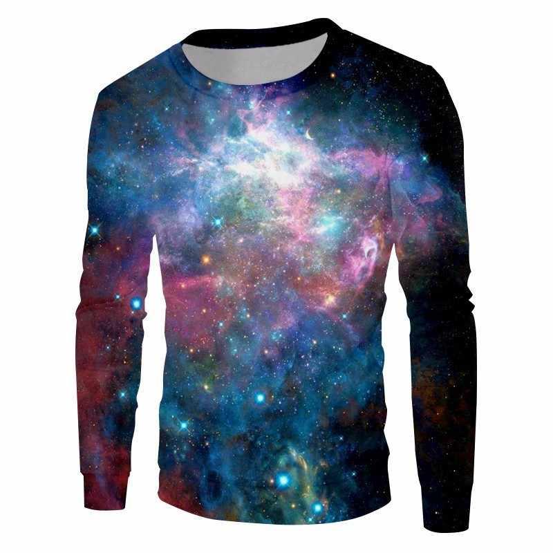 OGKB Новое поступление 3D свитшоты с принтом Galaxy свитер с космосом толстовки для женщин/мужчин хип хоп панк с длинным рукавом Crewneck пуловеры