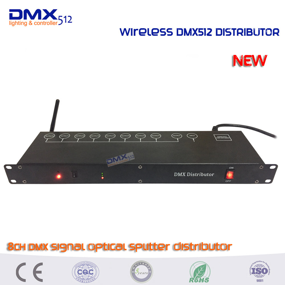 DHL Free shipping 2.4G Wireless dmx 8CH Distributor DMX512 Light Stage Light Signal Amplifier Splitter 8 way DMX Splitter dhl fedex free shipping best quality 8ch dmx splitter dmx512 light stage lights signal amplifier splitter 8 way dmx distributor