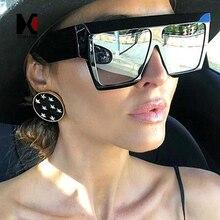 SHAUNA Oversize Women Square Sunglasses Ins Popular Retro Me
