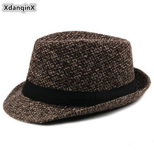 XdanqinX 2019 New Autumn And Winter Fedoras Hats For Men Fashion Versatile Mens Jazz Hat British Trend Vintage Dads Panama