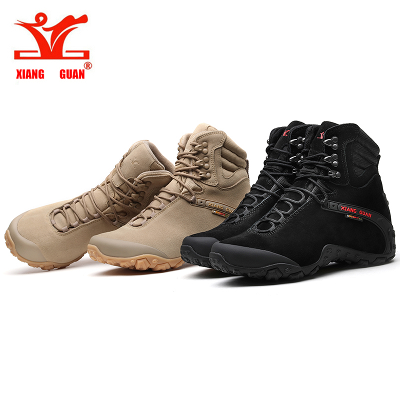 XIANG GUAN Men/'s Outdoor High-Top Waterproof Trekking Hiking Boots