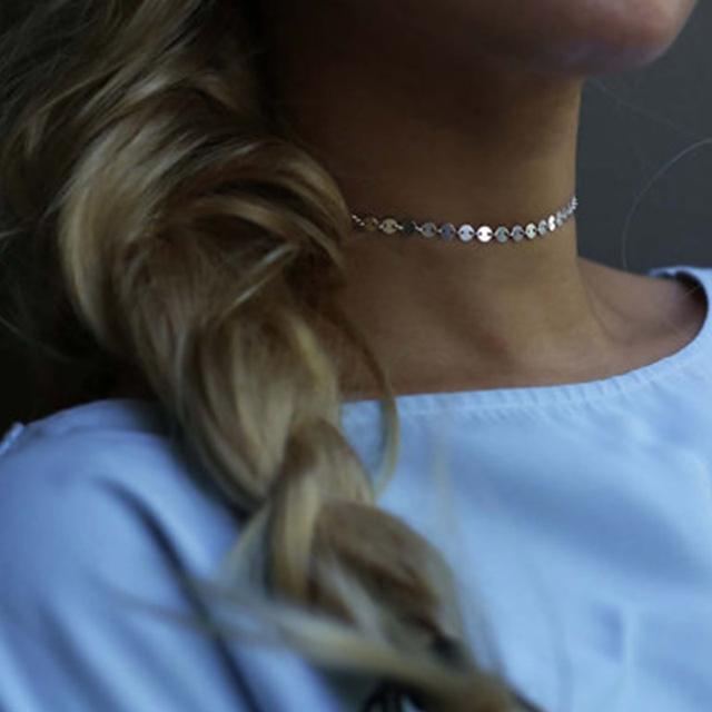 Manual chain Statement Choker Necklace
