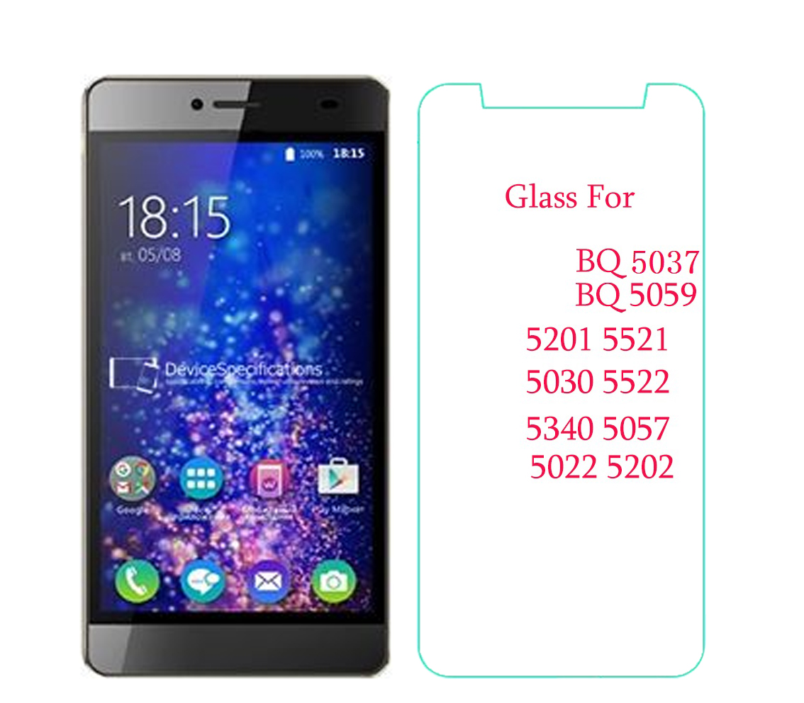 For BQ 5059 Glass Tempered Glass For BQ 5070 5201 5521 5030 5522 5340 5057 5022 5202 Screen Protector Protective Glass 9H 2.5D