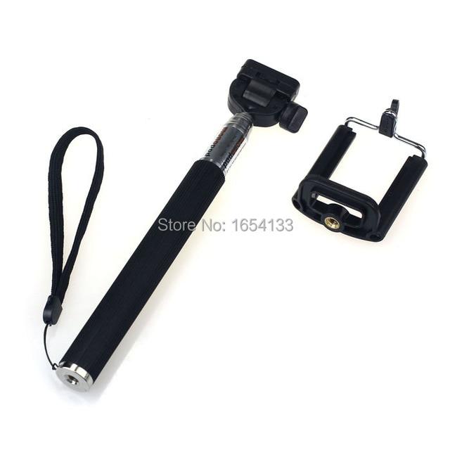 Selfie Stick Extendable Monopod Handheld Self-Portrait Tripod Monopod+Clip pau de selfie