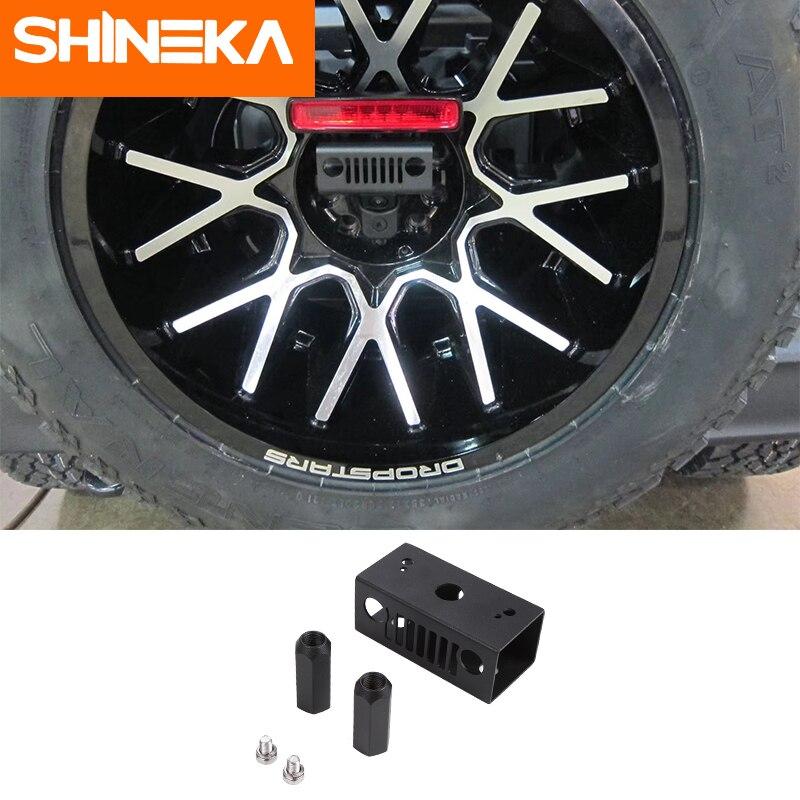 SHINEKA Lamp Hoods ABS Car High Brake Light Bracket Advanced Configuration Car Styling Accessories For Jeep Wrangler JL 2018+