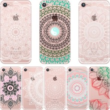 pastel Paisley Henna Mandala Case for iphone 6 6S 5s SE 7 7plus 6plus 6Splus Soft Silicone Phone Back Cover Capinha Coque