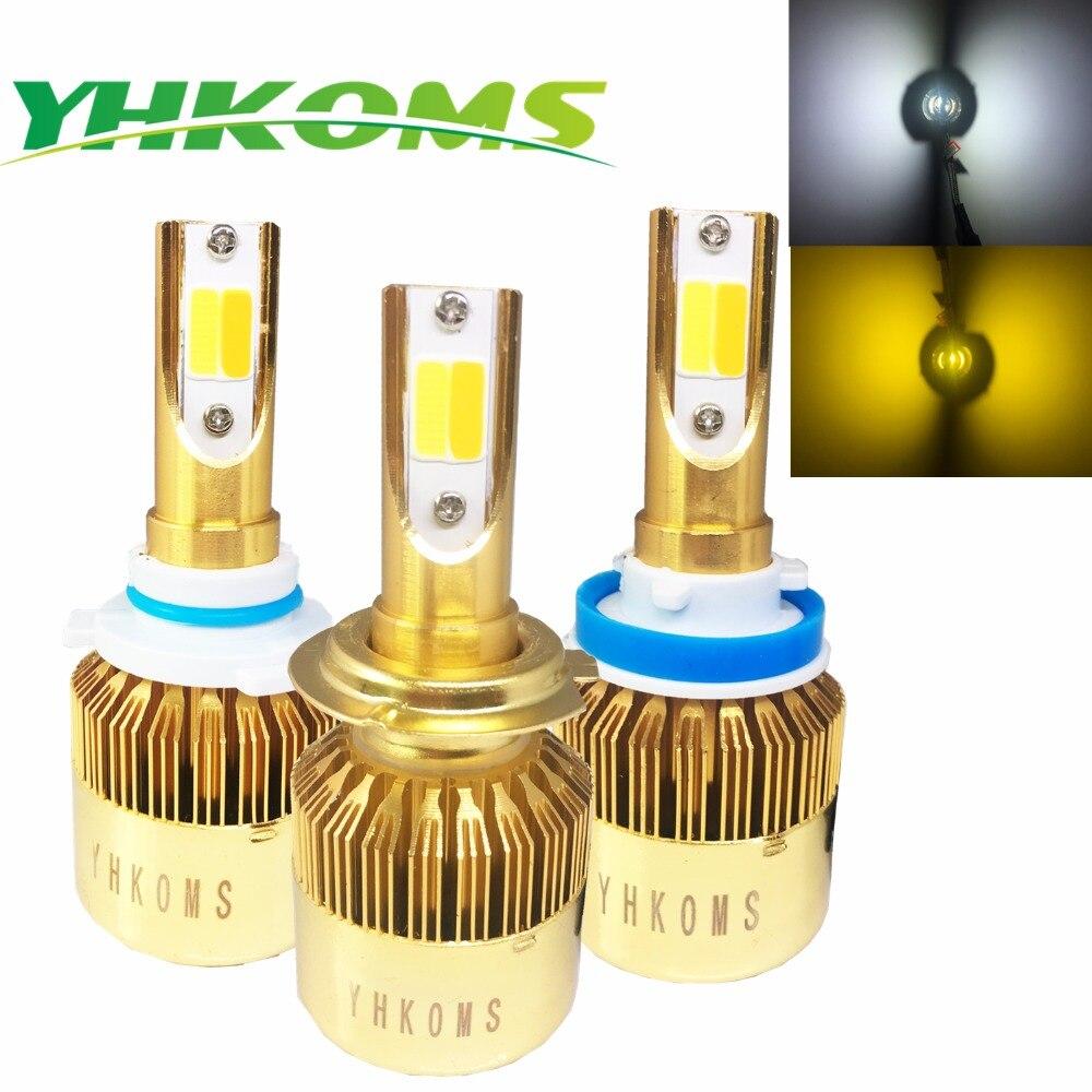 YHKOMS Auto H11 Led Bulbs H7 LED 9005/HB3 9006/HB4 Car Headlights H4 H8 H1 H3 880 881 H27 3000K 6000K Auto LED Light Bulb 12V  2x h7 car led headlight auto p7 h4 h11 h1 h3 h7 h8 h9 9005 9006 9012 880 881 white csp led headlights bulb fog light 12v 24v 72w