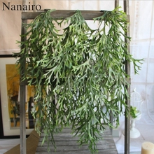 1pcs 9-Fork Large Green Pine Needles Artificial Hanging Plants Indoor For Plastic Flowers For Home Wedding Party Decoration