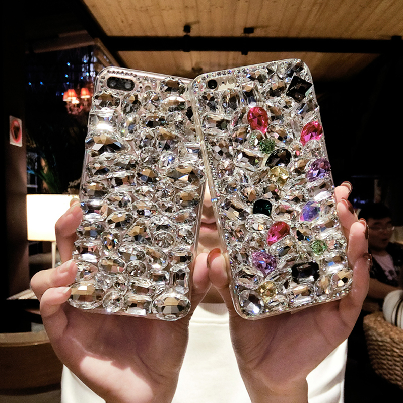 Bling Rhinestone <font><b>Diamond</b></font> <font><b>Cases</b></font> for <font><b>Huawei</b></font> P30 <font><b>P20</b></font> Lite Pro Mate 30 20 Pro Lite Glitter <font><b>Diamond</b></font> <font><b>Case</b></font> Shell Coque For <font><b>Huawei</b></font> P30 image